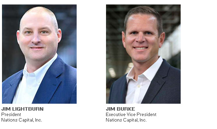 Photos of Jim Lightburn and Kyle Asher of Nations Capital, Inc interviewed by ABL Advisor