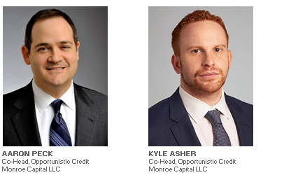 Photos of Aaron Peck and Kyle Asher of Monroe Capital LLC