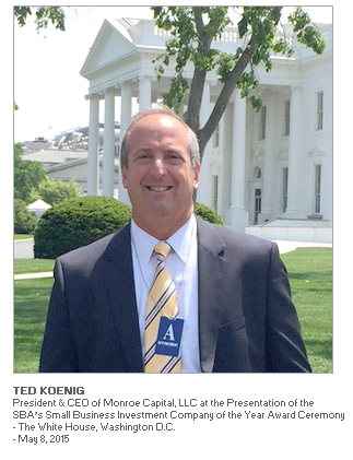 Photo of Ted Koenig, President & CEO of Monroe Capital at the award ceremony at The White House, Washington, D.C.
